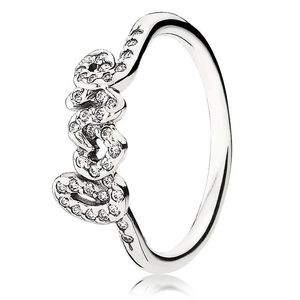 Pandora ALE Sterling Silver Signature of Love Ring